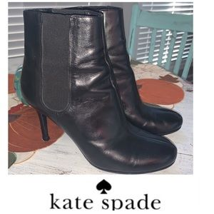 Kate Spade Leather Booties Black Size 7 1/2